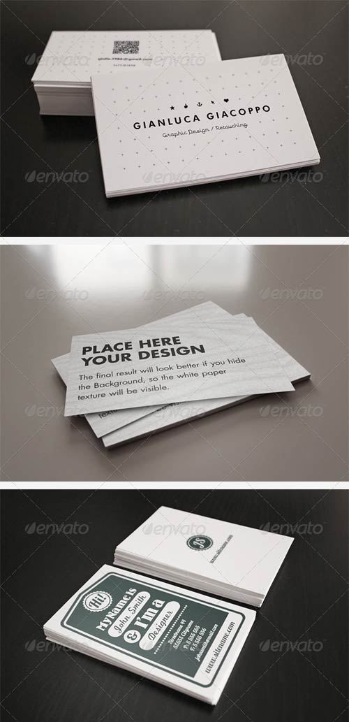 GraphicRiver Flyer/Business Card Clean Realistic Mockups Set 2