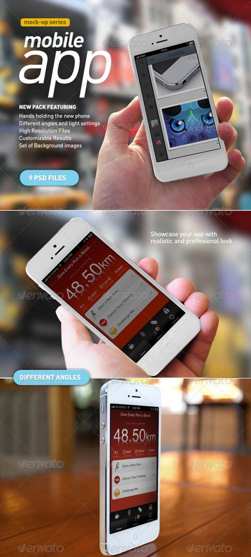 GraphicRiver Mobile App | White Phone Mock-Up