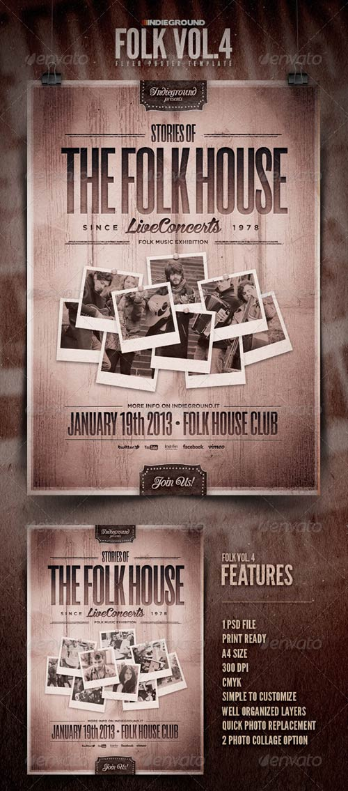 GraphicRiver Folk Flyer/Poster Vol. 4