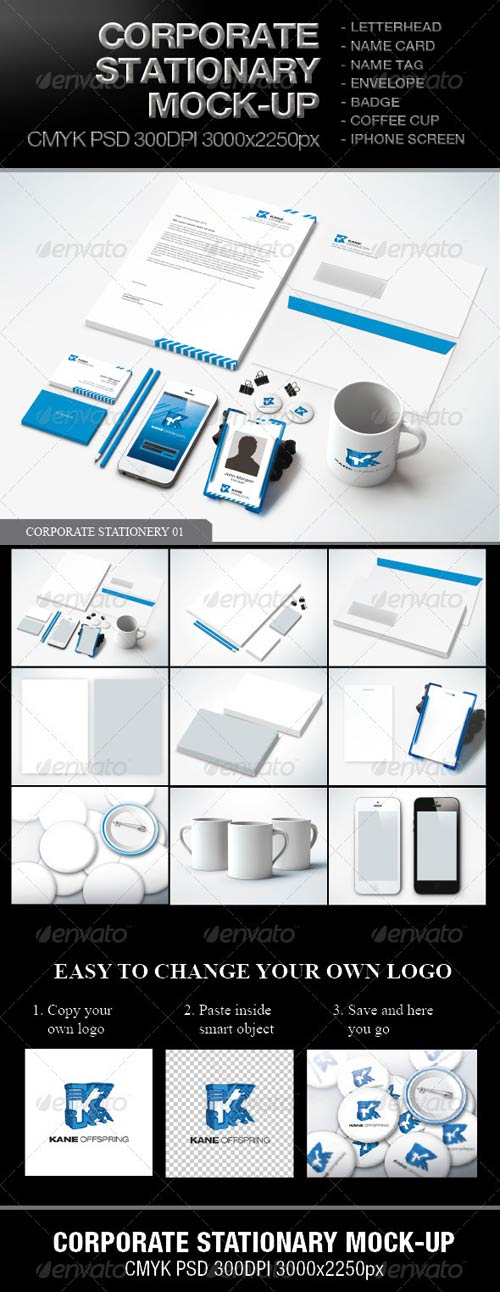 GraphicRiver Corporate Stationary Mock-up