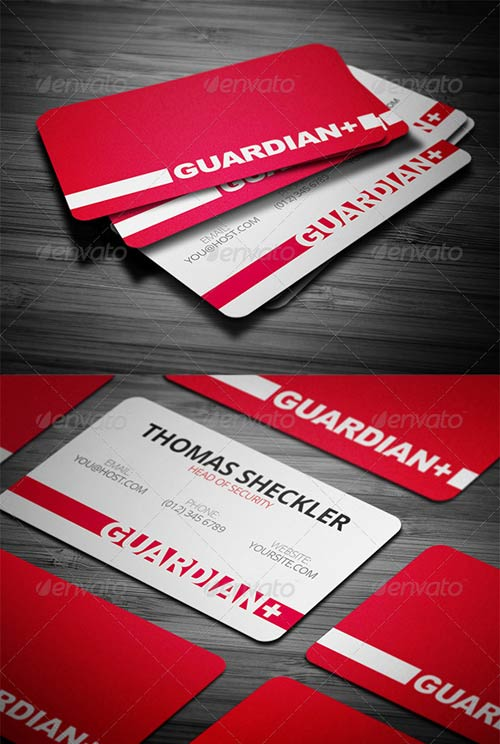 GraphicRiver Security Business Card