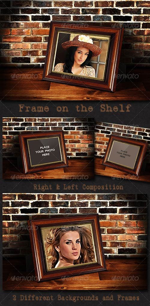 GraphicRiver Photo Frame on the Shelf