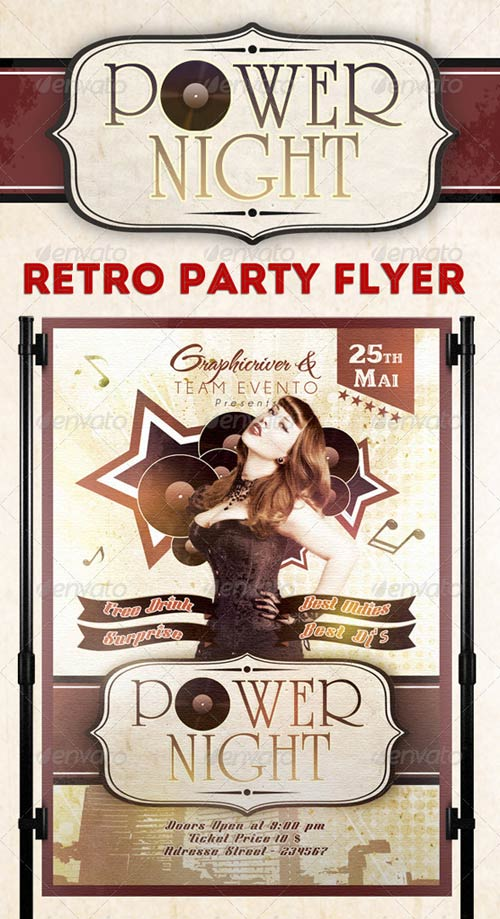 GraphicRiver Power Night Party Flyer Template