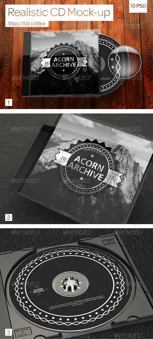 GraphicRiver Realistic CD Mock-Ups