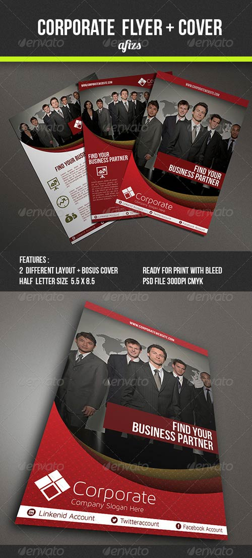 GraphicRiver Corporate Flyer 3908609