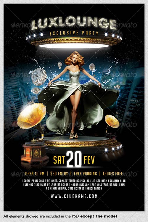 Lux Lounge Party Flyer Template