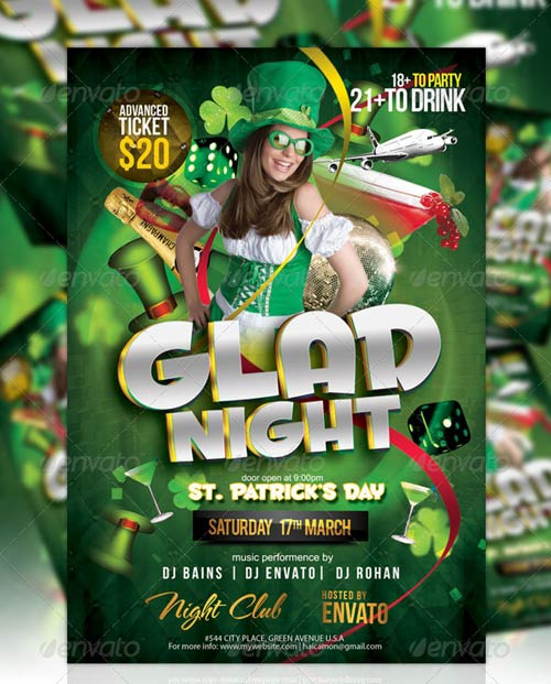 GraphicRiver St Patrick's Night Party Flyer Vol_1