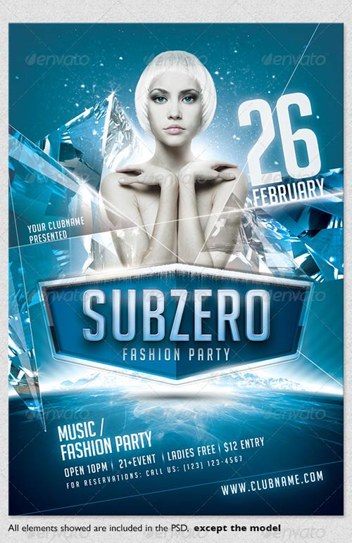 Subzero  Winter Party Flyer Template