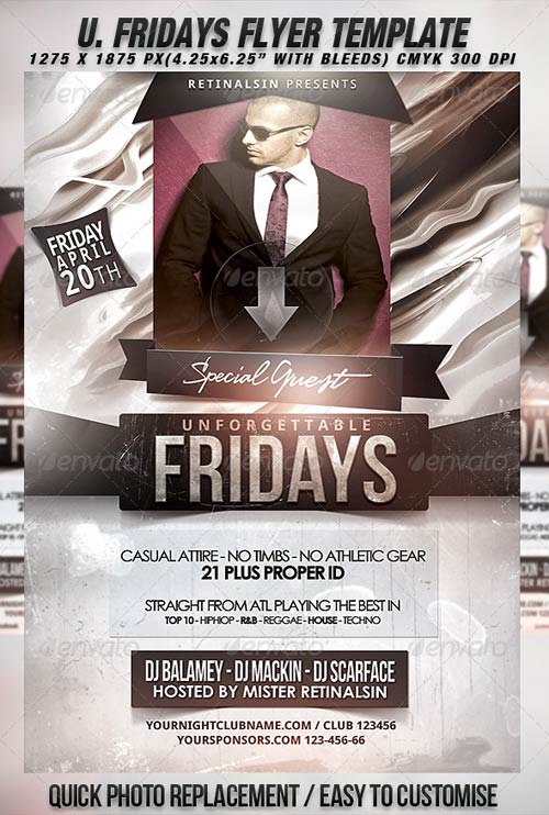 GraphicRiver Unforgettable Fridays Flyer Template