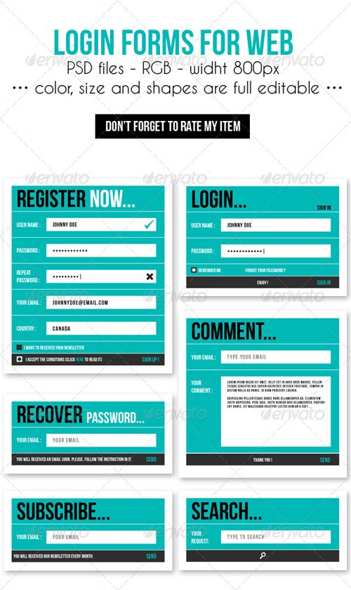 GraphicRiver Login Forms for Web