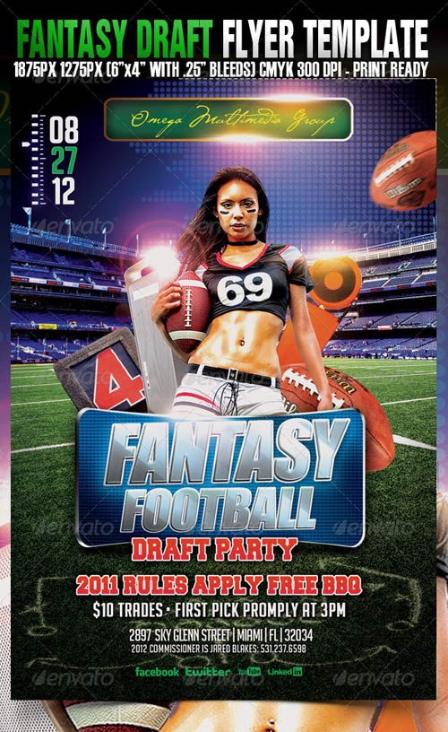 GraphicRiver Fantasy Draft Football Party