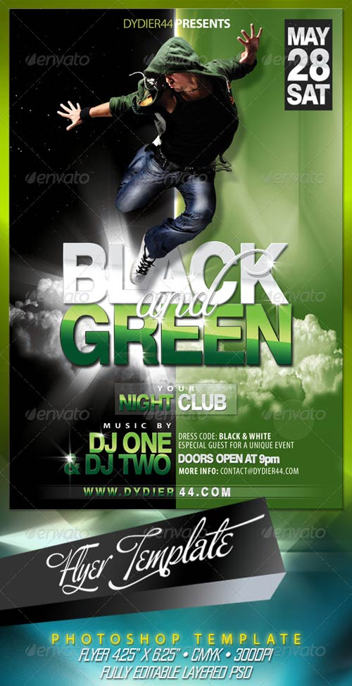 GraphicRiver Black & Green (Flyer Template 4x6)