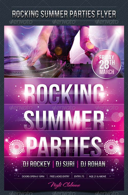 GraphicRiver Rocking Summer Party Flyer