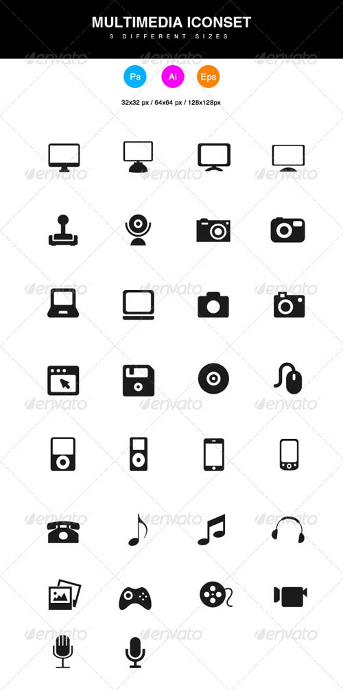 GraphicRiver Multimedia Icons