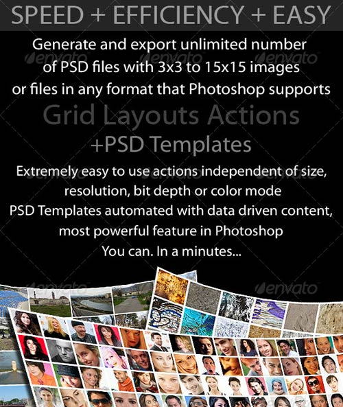 GraphicRiver Grid Layouts Actions and PSD Templates