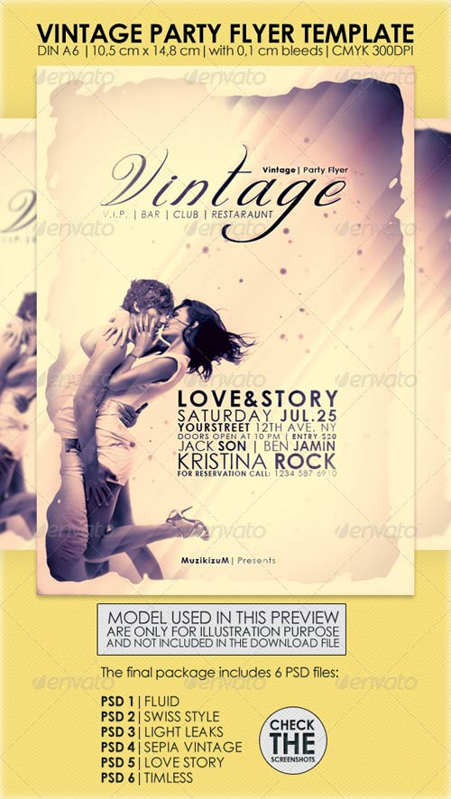 GraphicRiver Vintage Party Flyer Template