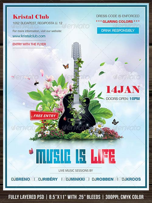 GraphicRiver Music Is Life Poster/Flyer