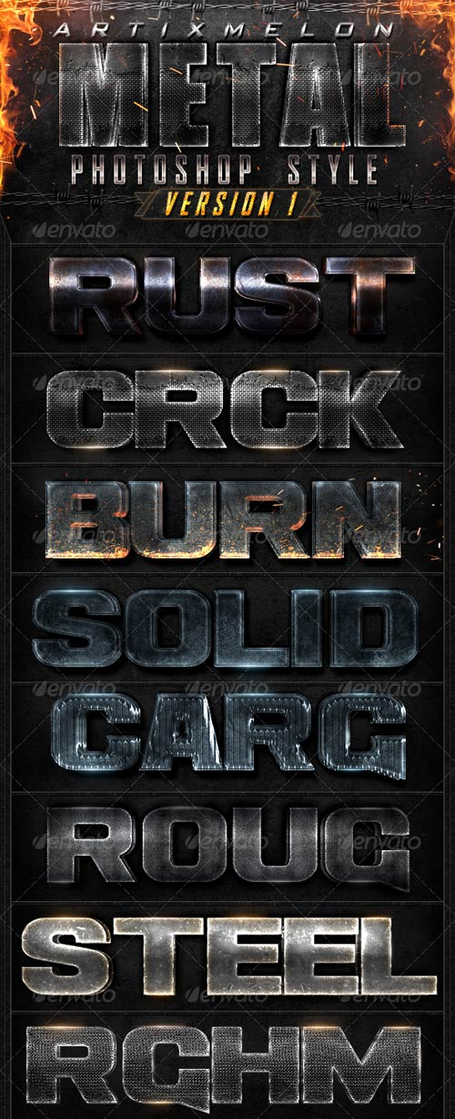 GraphicRiver Metal Layer Style V1