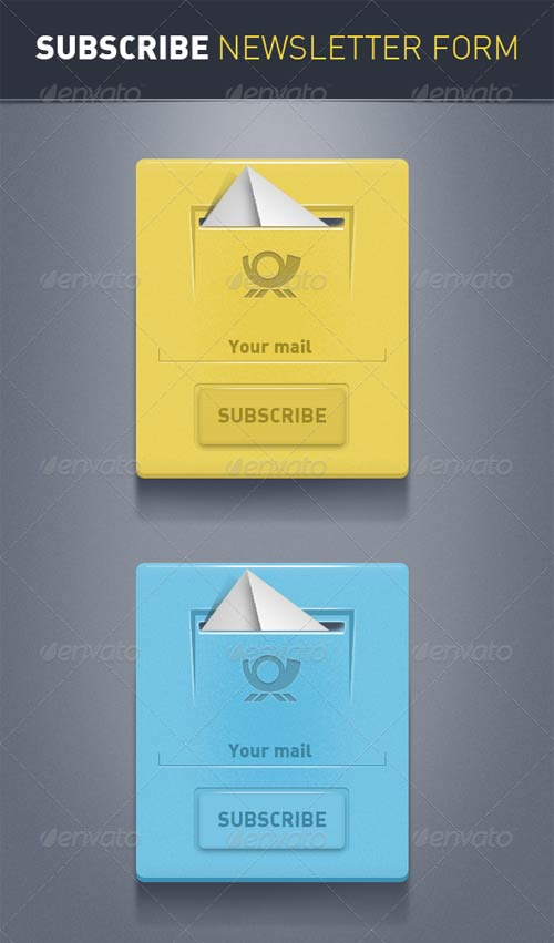 GraphicRiver Subscribe Newsletter Forms