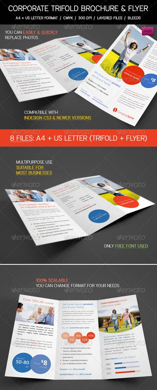 GraphicRiver Clean Corporate, Business Trifold & Flyer Pack
