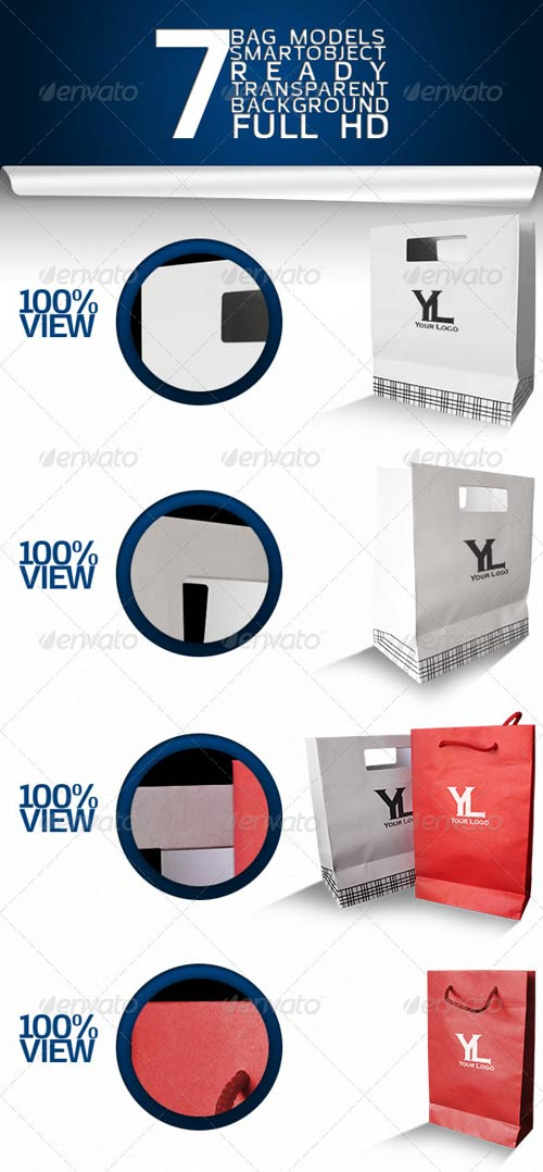 GraphicRiver Paper Bag Mockup Pack