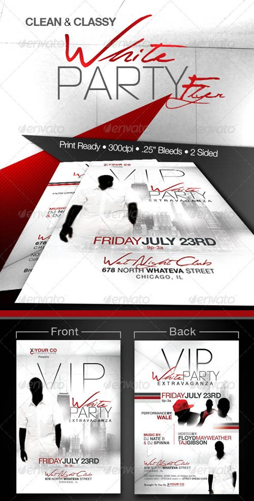 GraphicRiver White Party Event Flyer