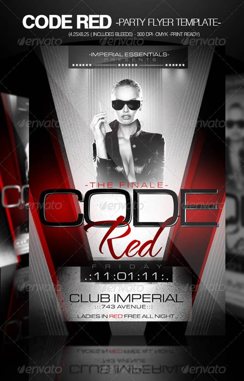 GraphicRiver Code Red Party Flyer