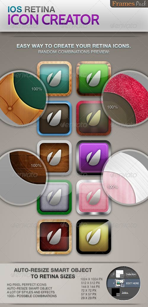 GraphicRiver iOS Retina Icon Creator