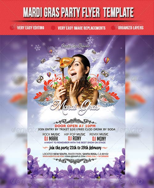 GraphicRiver Mardi Gras Party Flyer