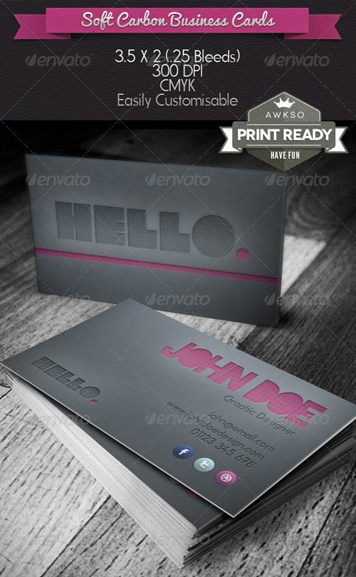 GraphicRiver Soft Carbon Business Card
