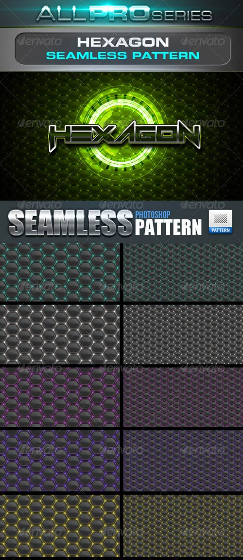 GraphicRiver Hexagon Seamless Tileable Patter