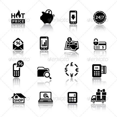 GraphicRiver 16 Shopping Icons