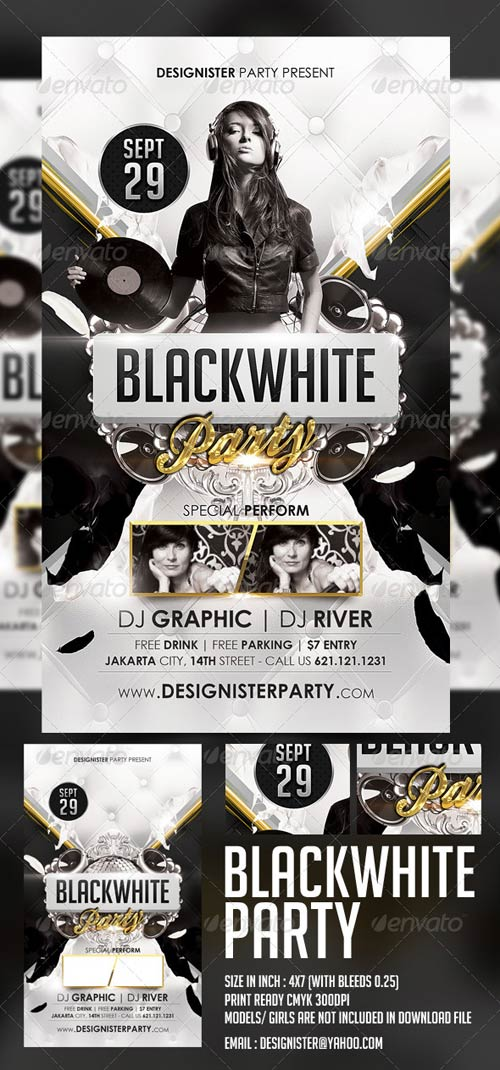 GraphicRiver Blackwhite Party Flyer