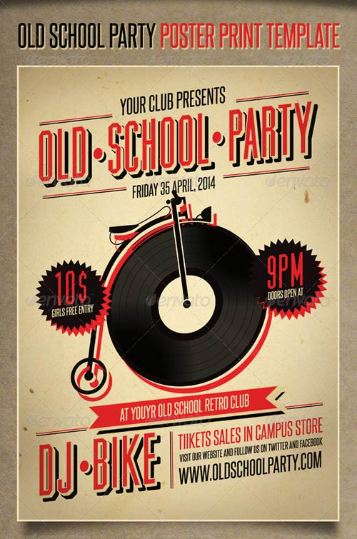 GraphicRiver Old School Party Poster