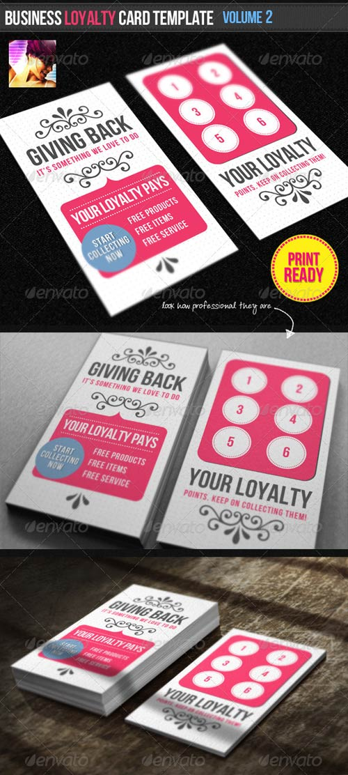 GraphicRiver Business Loyalty Card Template Vol.2