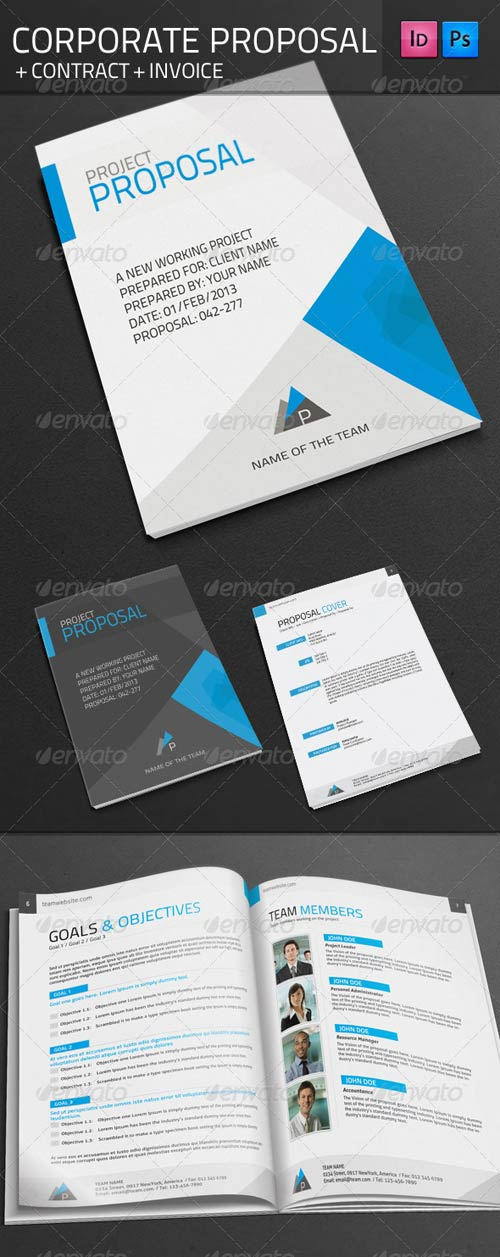 GraphicRiver Corporate Proposal + Contract + Invoince