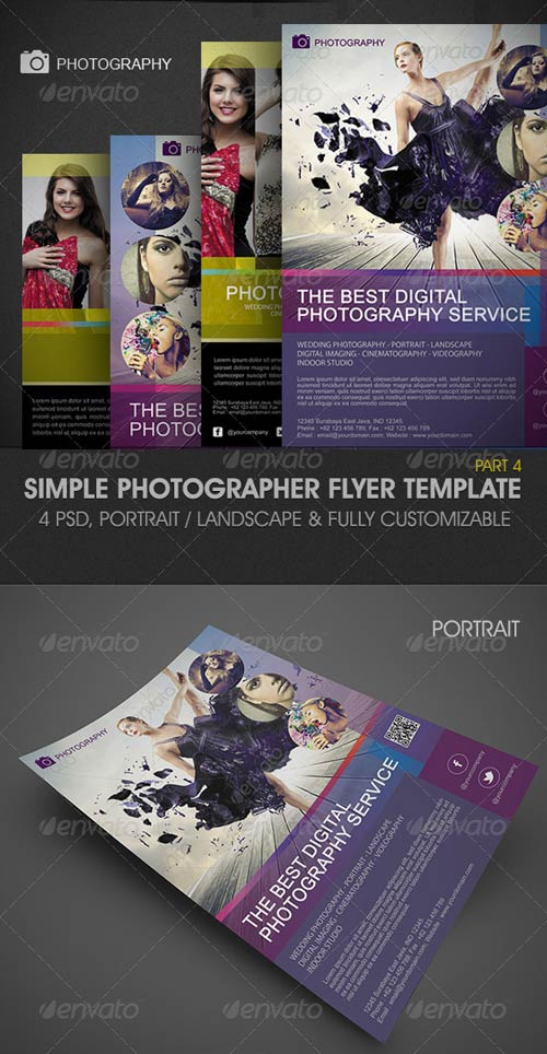 GraphicRiver Simple Photographer Flyer Template 3788370