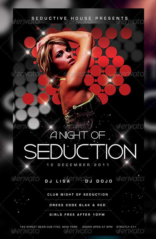 GraphicRiver Music/Dance Night Seduction Party Flyer