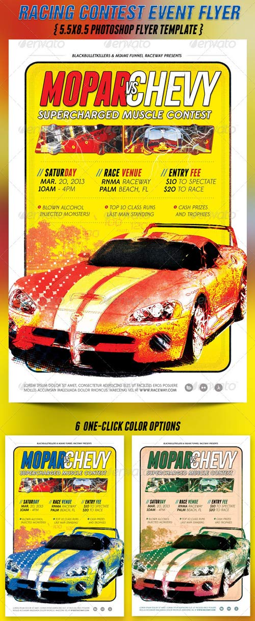 GraphicRiver Racing Contest Event Flyer Template