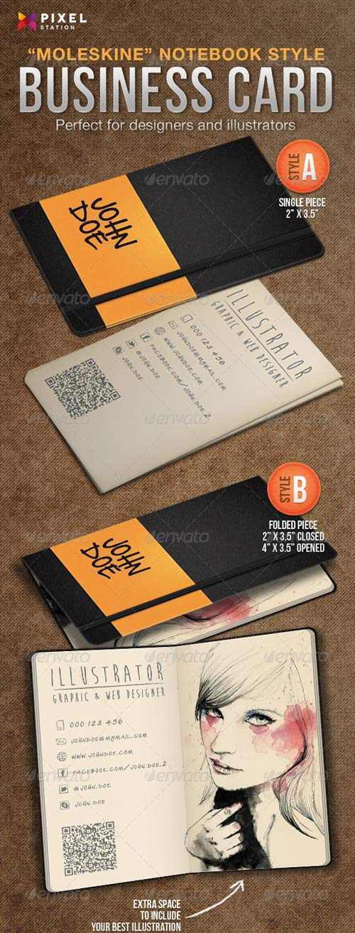 GraphicRiver Notebook Business Card