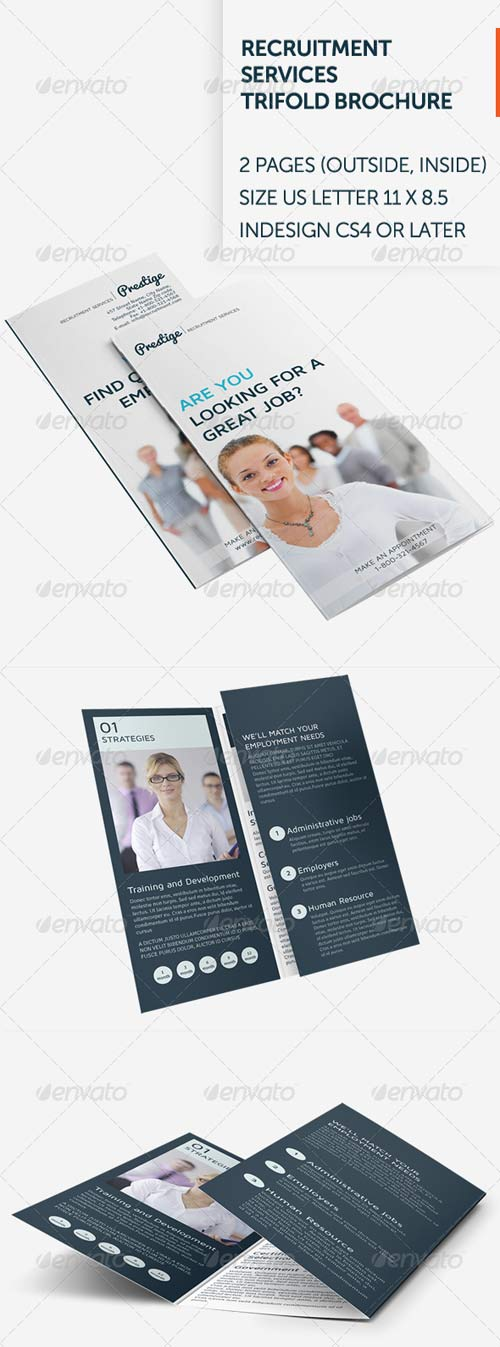 recruitment brochure template - graphicriver recruitment services trifold brochure