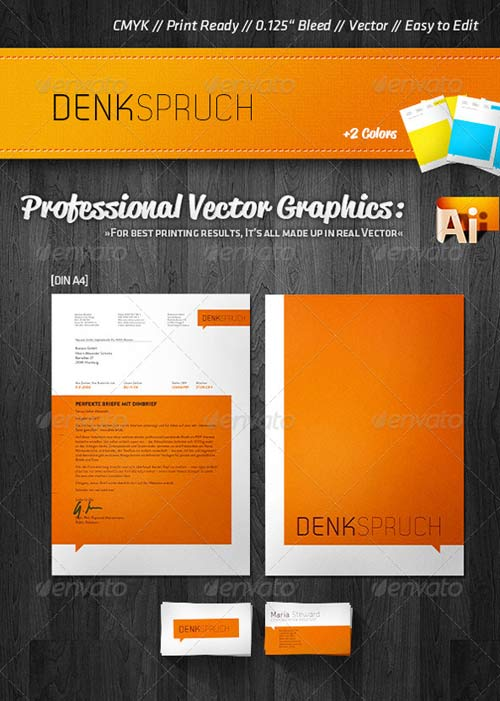 GraphicRiver Fresh Corporate Business Card + Letterhead