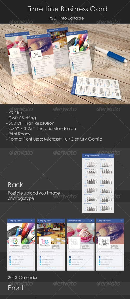 GraphicRiver Time Line Business Card