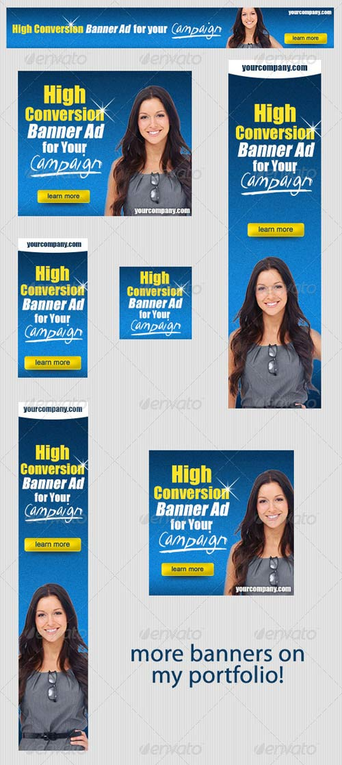 GraphicRiver High Conversion Banner Ad PSD Template