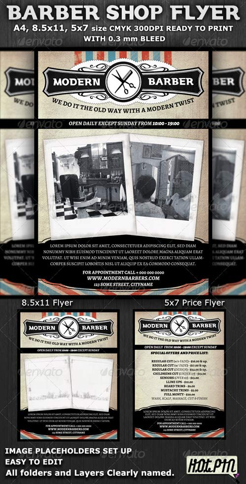 GraphicRiver Barber Shop Flyer Template