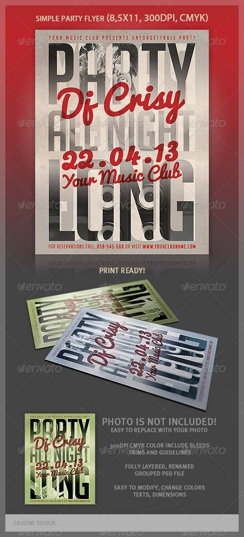 GraphicRiver Typographic Simple Flyer Template