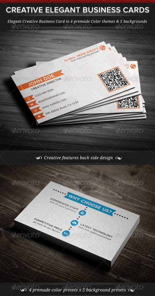GraphicRiver Elegant Creative Business Cards Template