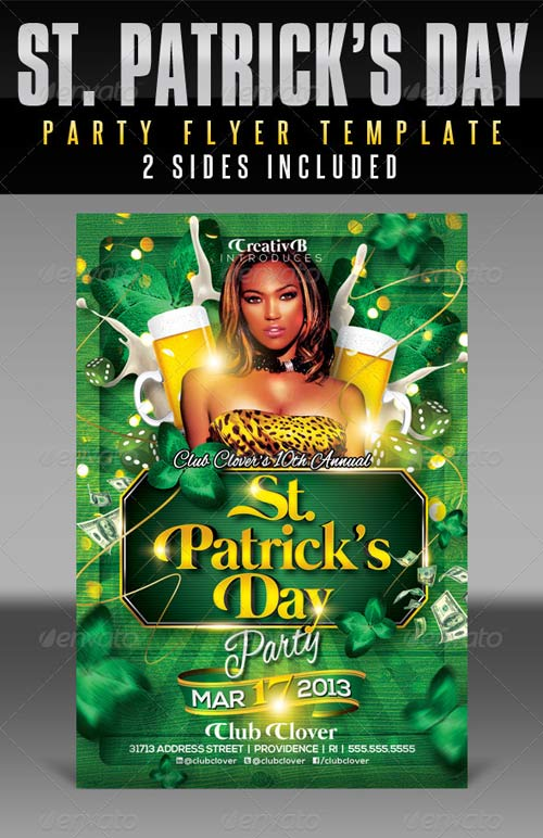 GraphicRiver St. Patrick's Day Party Flyer Templates