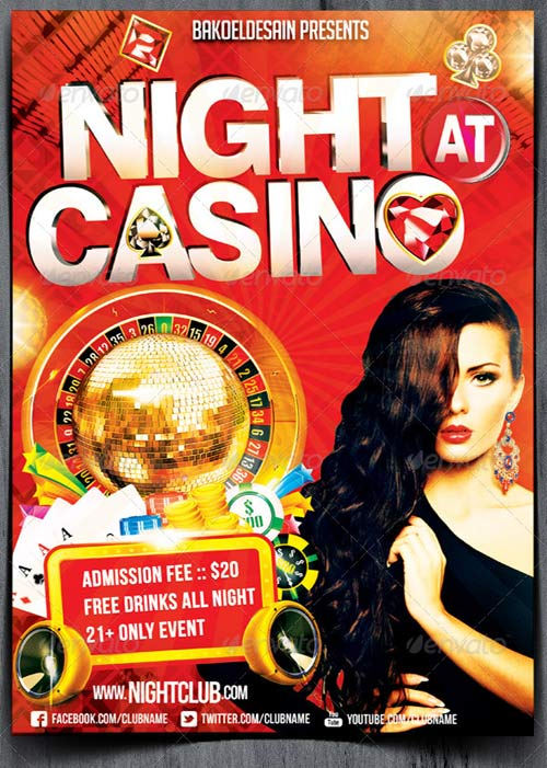 GraphicRiver Night at Casino Party Flyer