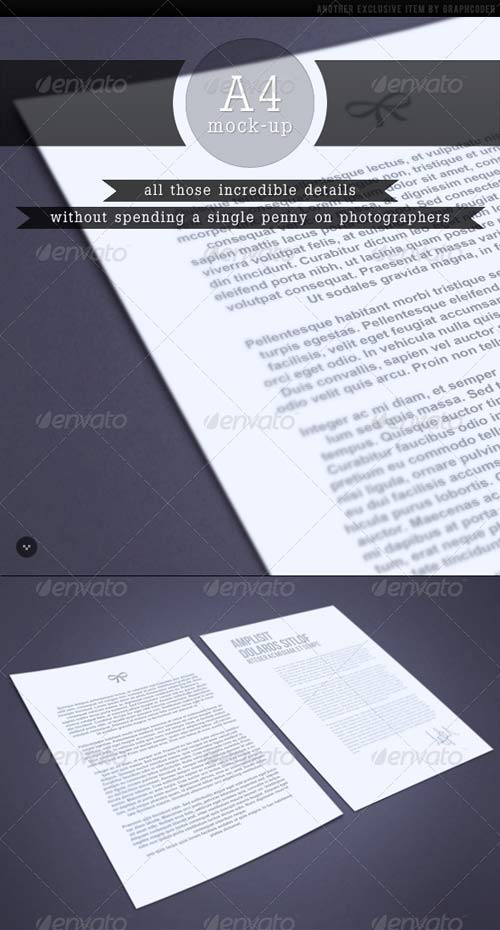 GraphicRiver Pro All Purpose A4 Mock-up